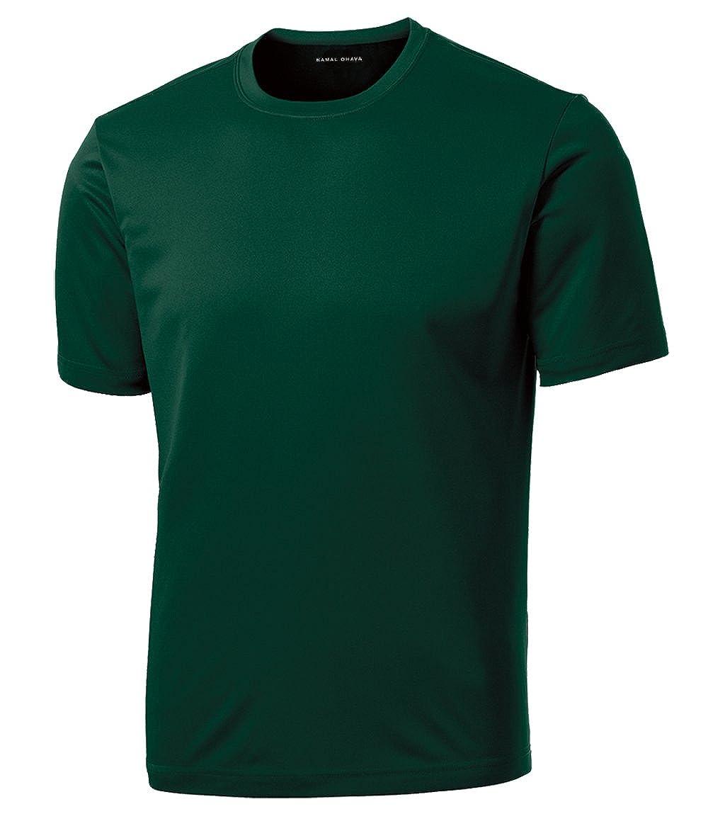 KAMAL OHAVA Big Tall Men's Dri-Cool Athletic Performance Tee Shirt