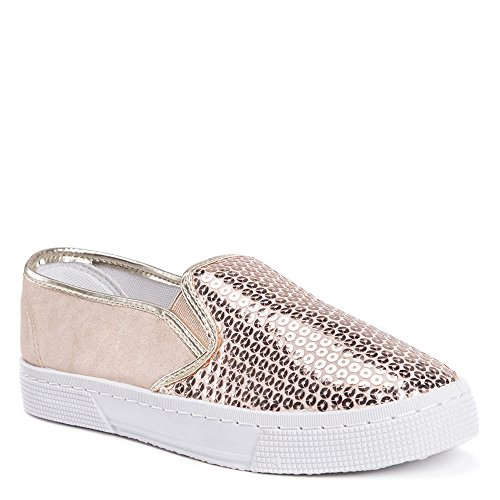 Muk Luks Gianna Womens Slip On Oro Rosa