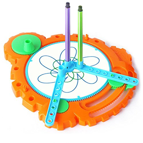 Travel Spirograph Playset, Sacow Spiral Art Drawing Board Geometric Ruler Stencil Classic Stationery Toy