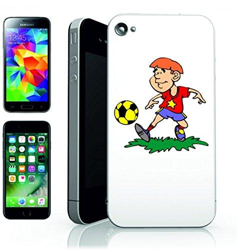 Smartphone Case ragazzo di calcio Uomo di bambino della palla di calcio di sport di giocare per Apple Iphone 4/4S, 5/5S, 5C, 6/6S, 7& Samsung Galaxy S4, S5, S6, S6Edge, S7, S7Edge Huawei HTC–D
