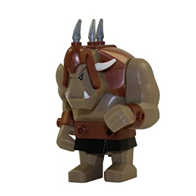 LEGO Troll (Dark Tan with Copper Armor) Castle Minifigure: Toys & Games