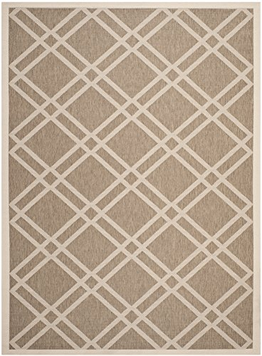 Safavieh Courtyard Collection CY6923-242 Brown and Bone Indoor/ Outdoor Area Rug (5'3