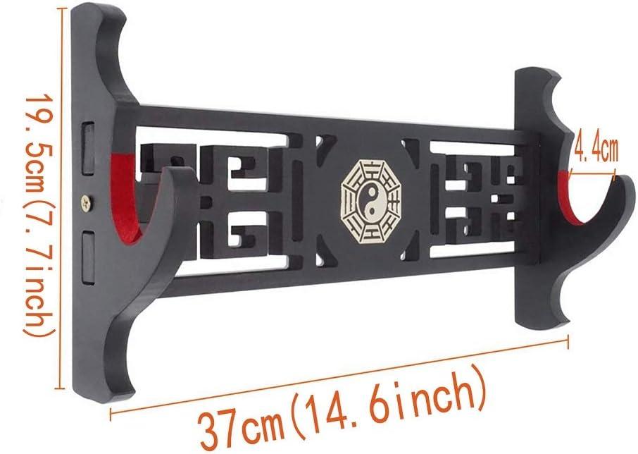 Samt Shuli Schwerthalter chinesischer Bagua-Stil Katana-Aufh/änger gepolsterte Halterung f/ür Standard-Schwerter Wandhalterung 1 Etage.