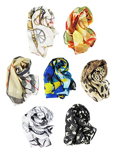 HipGirl Boutique Womens Girls Shawl Scarf Fashion Scarves Accessories ( 7pc 53
