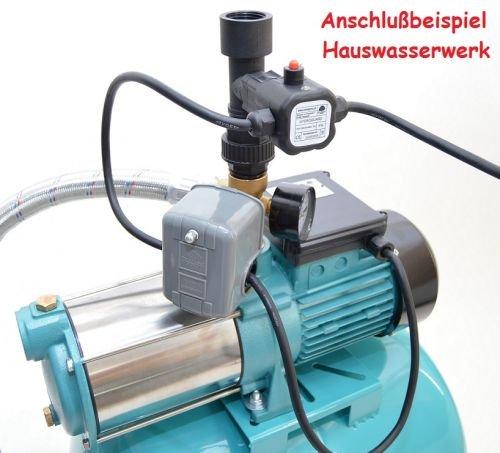 Pumpe 1300Watt Pumpensteuerung Trockenlaufschutz Hauswasserwerk 100 Liter