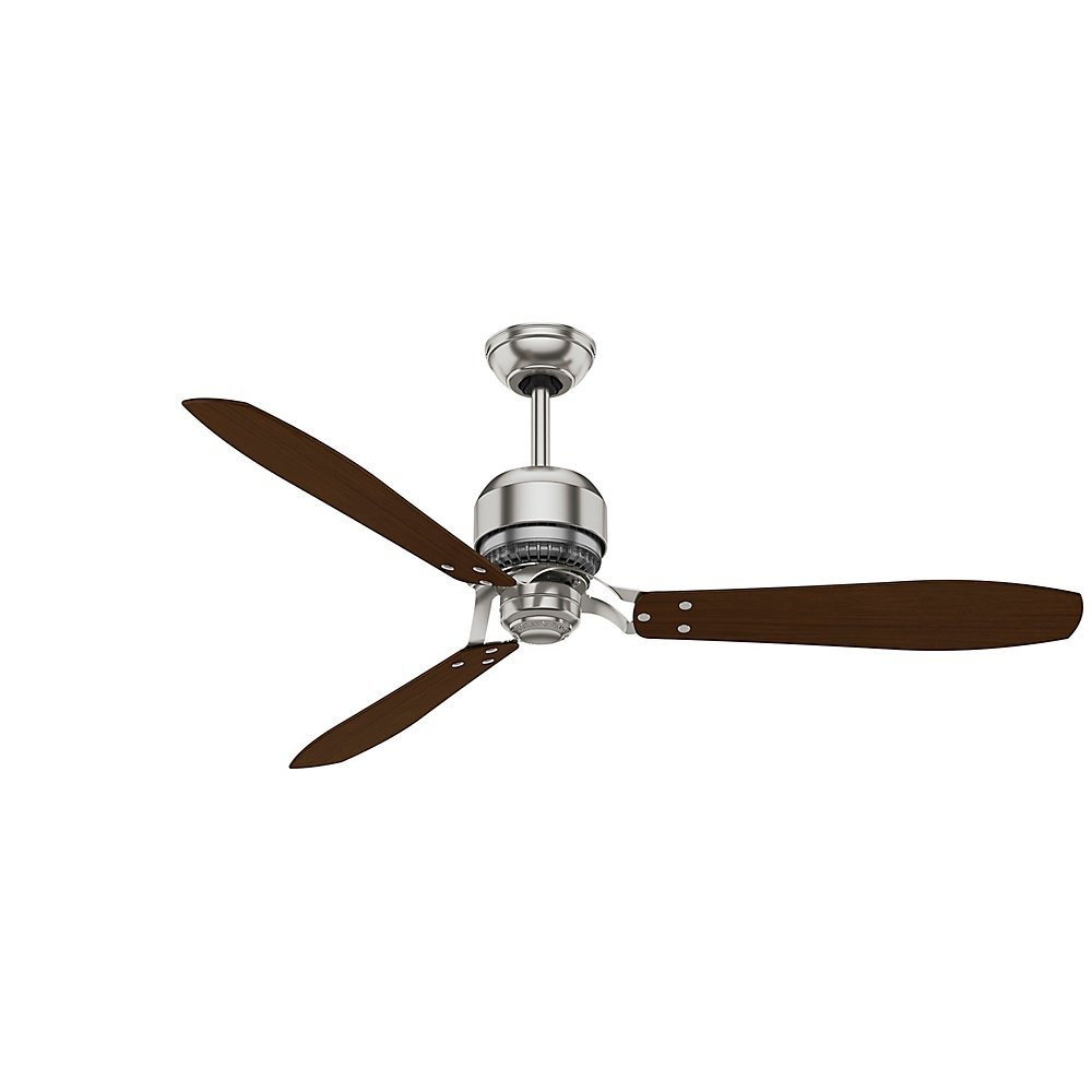 Casablanca 59504 tribeca 60 inch 3 blade ceiling fan with reversible casablanca 59504 tribeca 60 inch 3 blade ceiling fan with reversible walnutburnt walnut blades and included remote brushed nickel amazon aloadofball Image collections