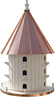 "product image for Saving Shepherd 15 Room Purple Martin Copper Top Birdhouse - Large 35"" Swallow 3 Story Bird Condo House Amish Handcrafted in Lancaster Pennsylvania USA"