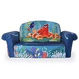 Soft Plush Disney Pixar Finding Dory Children Sized Flip Open Lounger Sofa for Kids Ages 2-4