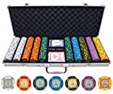 500 Piece Crown Casino Clay Poker Chips Set by JPC