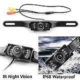 Backup Camera and Monitor Kit for Car, GerTong Universal Waterproof Rear View License Plate Car Backup Camera + 4.3 Inches LCD Monitor