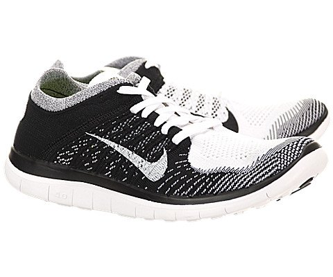 premium selection 36643 f1e6c Nike Men s Free Flyknit 4.0 White White Black Volt Running Shoe 8.5 Men US  - Buy Online in UAE.   Apparel Products in the UAE - See Prices, Reviews  and Free ...
