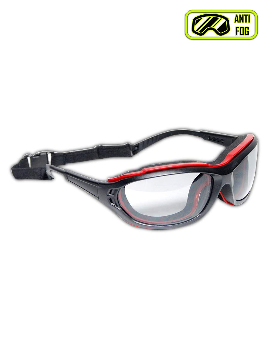 Magid Glove & Safety Y85BRAFLG Magid Gemstone Onyx Y85 Protective Glasses, Standard, Black Red Foam Carrier by Magid Glove & Safety
