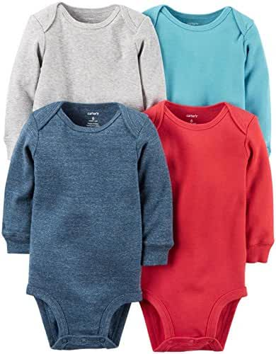 Carter's 4 Pack Bodysuits (Baby) - Assorted - 3 Months