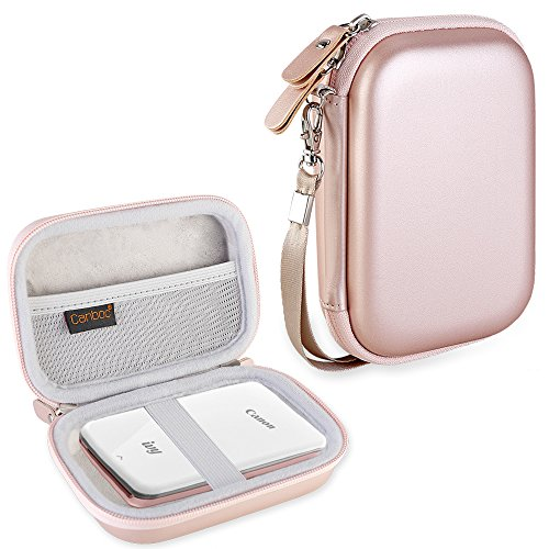 Canboc Shockproof Carrying Case Storage Travel Bag for Canon Ivy Wireless Bluetooth Mobile/Portable, Mini Photo Printer Protective Pouch Box, Rose Gold