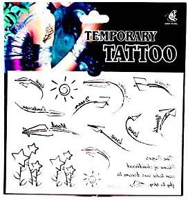 Tatuajes con aviones de papel, Palabras & Alemán, sol y estrella ...