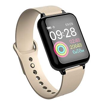 QKa Mujeres Relojes Inteligentes, Deportes Impermeables para Android y iOS SmartWatch Monitor de Ritmo cardíaco Funciones de presión Arterial,B: Amazon.es: ...