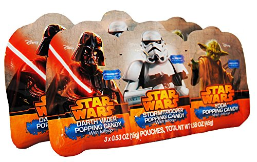 Classic Star Wars Popping Candy with Lollipops