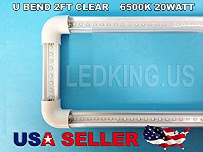 2pcs LED U-bend Shaped 20W T8 T12 Tube Light Fb32 Fluorescent Replacement 6500k Clear on Sale.
