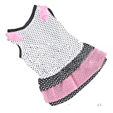 callm Dog Clothes Fashion Puppy Dog Princess Dress Dog Dot Skirt Pet Dog Dress (S, B)