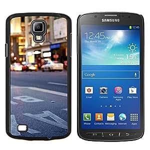Ciudad de Nueva York Nueva York- Metal de aluminio y de plástico duro Caja del teléfono - Negro - Samsung i9295 Galaxy S4 Active / i537 (NOT S4)