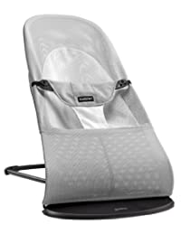 BABYBJORN Bouncer Balance Soft - Silver/White, Mesh BOBEBE Online Baby Store From New York to Miami and Los Angeles