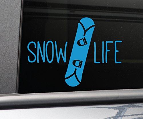 Nashville Decals Snow Life Snowboarding Snowboard Vinyl Decal Laptop Car Truck Bumper Window Sticker, 5