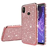 EnjoyCase Bling Case for Xiaomi Redmi Note 5,Luxury Ultra Thin Glitter Skin Soft Diamond Plating Frame Shiny Shining Silicone Protective Back Cover Case for Xiaomi Redmi Note 5