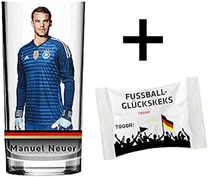 Dfb Glas Manuel Neuer Nr 1 Trinkglas 0 2 L Fussball Deutschland Fan Wm Weltmeister Edition 2018 Amazon De Sport Freizeit