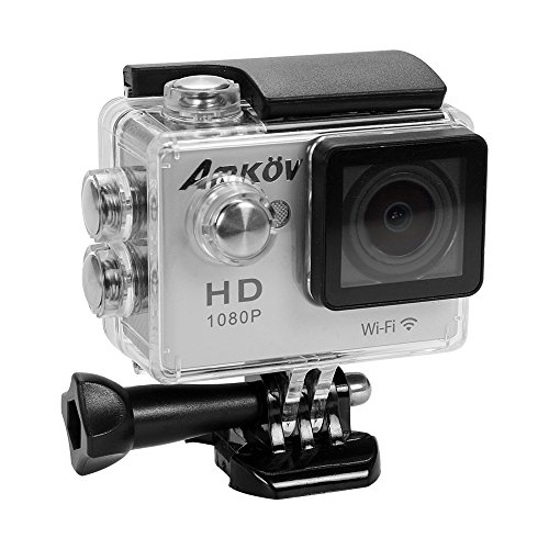 AMKOV WIFI 1080P HD Sport Action Camera 2.0inch 170°wide Angle Sports Video 12MP Waterproof 30m Camcorder Sports...