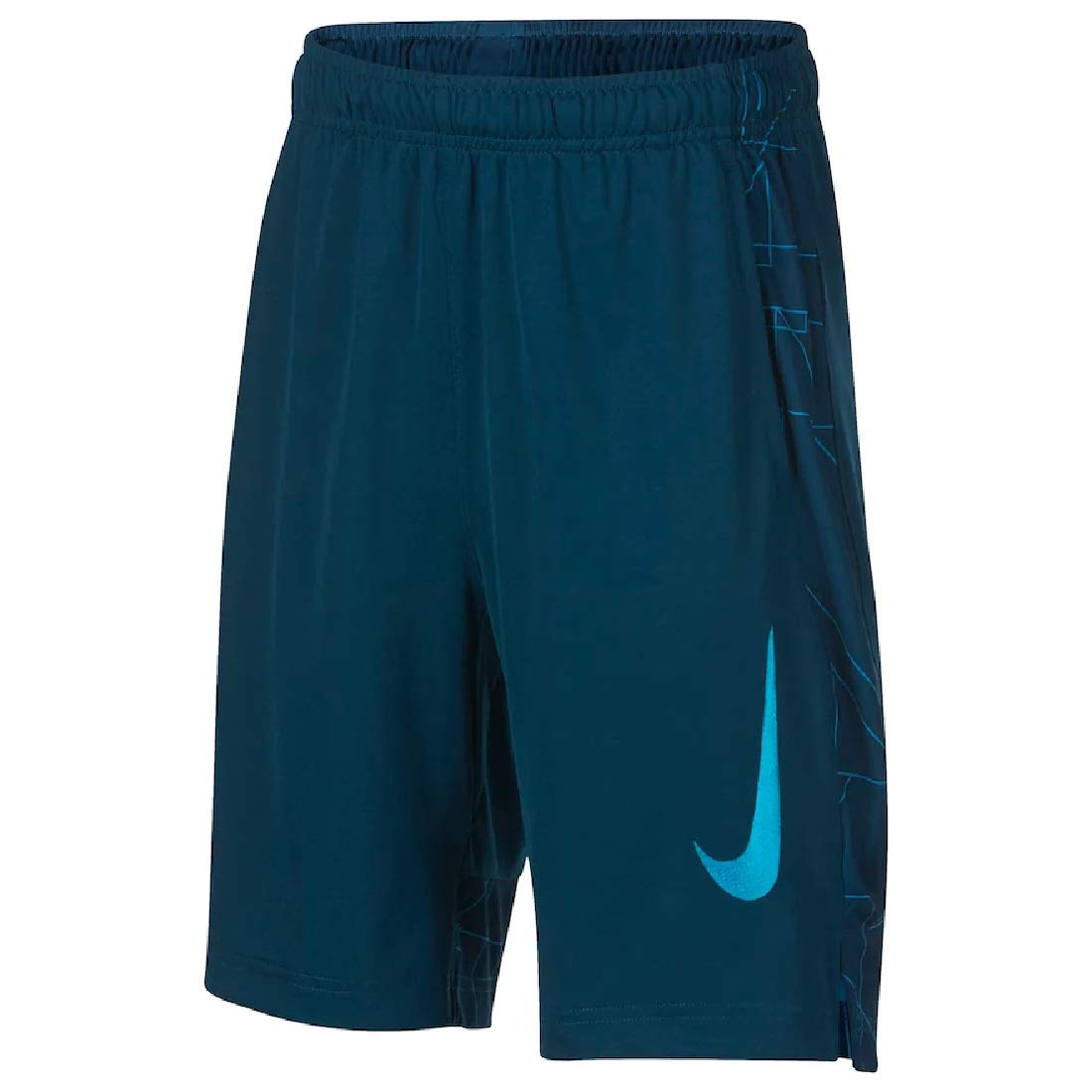 Nike Boys 8-20 Dri-FIT GFX Legacy Shorts (Blue Force, Small)