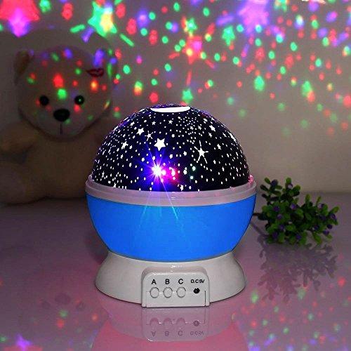 Galaxy Night Light Lamp, 4 LED Bead 360 Degree Romantic