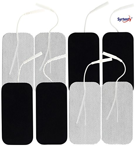 Syrtenty TENS Unit Electrodes Pads 2x4 - 8 Pcs Replacement Pads Electrode Patches For Electrotherapy