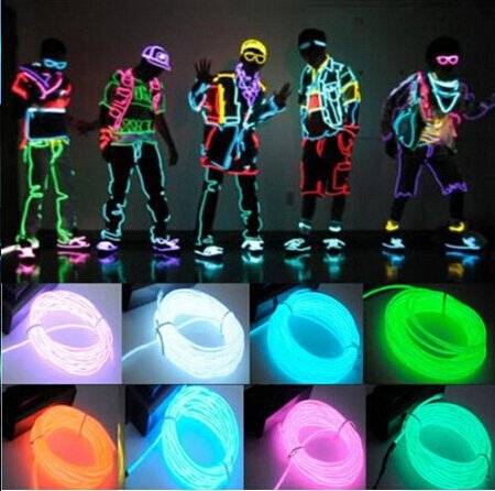 [Tuk789 New HOT 3M Water Resistant Flexible LED Neon Tube LED Strip Light for Car Shoes Clothing Dance EL Wire Rope with Controller] (Robocop Halloween Costume)