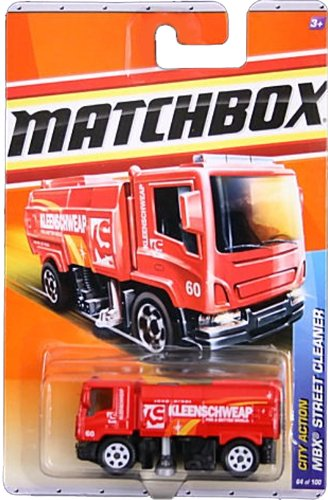 2011 Matchbox City Action MBX Street Cleaner Red #64 of (Street Cleaner)