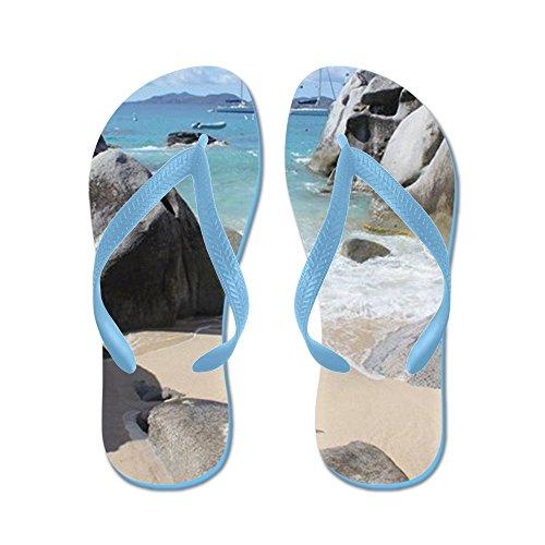 Cafepress The Baths - Flip Flops, Grappige String Sandalen, Strand Sandalen Caribbean Blue