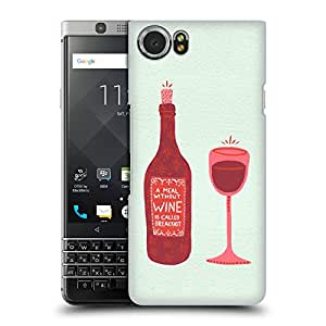 Official Cat Coquillette Bottle & Glass Wine Hard Back Case for BlackBerry KEYone / Mercury