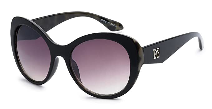 b3085d92d61 Eason Eyewear Women s Super Trendy Fasion Cat Eye Sunglasses EYE Styled 55  mm Black Cheetah Print