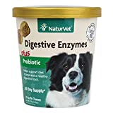 Healthy Probiotics and Digestive Enzyme Soft Chew Supplement for Dogs, Optimal Utilization of Nutrients for Sensitive Stomachs, Made by NaturVet