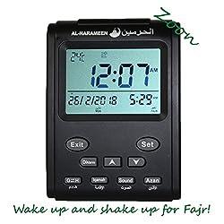 Muslim Azan Clock - Harameen 3011 Table Alarm- Islamic Prayer Five Times - Extra Instruction Manual for US Cities - ZOON