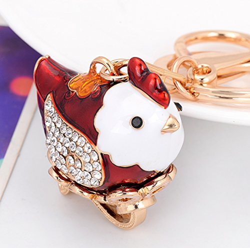 leomoste Shiny Crystal Diamond Keyring Cute Cartoon Chick Keychain Mini Bag Decoration Creative Gift for Girls and Women by leomoste (Image #2)