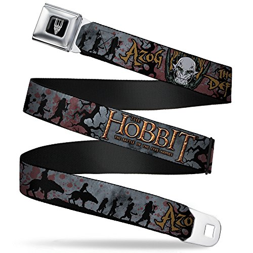 Buckle-Down Seatbelt Belt - THE HOBBIT-THE BATTLE OF THE FIVE ARMIES/Hunter Orcs Silhouette/Blood Splatter - 1.0