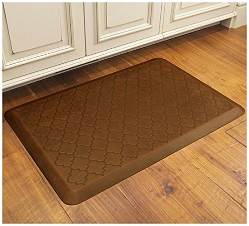 Wellness Mats Essential Series WellnessMats with Trellis Motif, 3' x 2', Copper