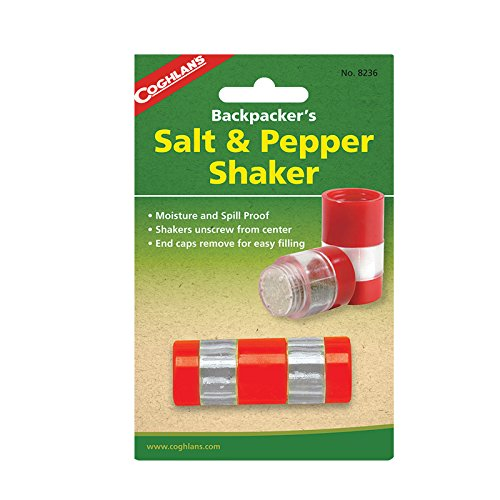 Coghlan's Salt & Pepper Shaker made our list of 5 essential camping spices you should add to your camping spice kit and carry in a multi compartment spice container for transporting your herbs and spices for camping in a multi spice shaker