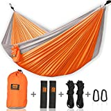 WHY DO YOU CHOOSE FROM US?  Camping Hammock: ours are made of high quality heavy duty 210T parachute nylon (the same kind skydivers use!) it can hold about 300kg. Compare to the other hammocks, it's not only stronger but also feels soft and comfortab...