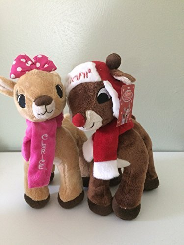 Rudolph The Red Nosed Reindeer & Clarice Plush 12' Holiday Set / -