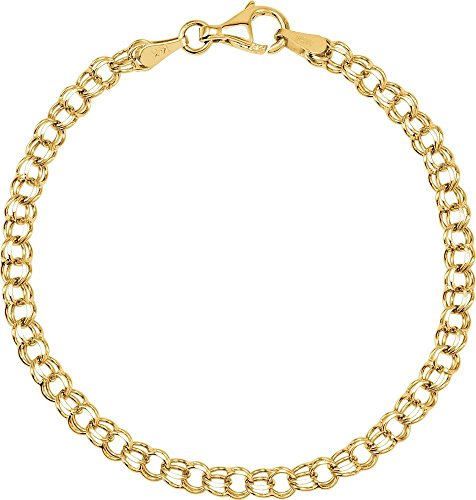 """Bracelet en or jaune massif 14 carats pour Bracelet 7 """"Motif JewelryWeb"""