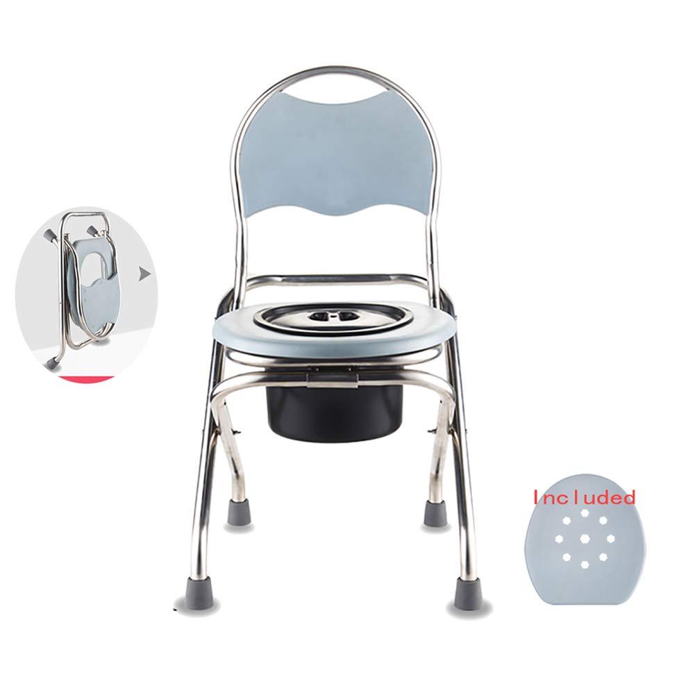 トイレチェア 高さ調整簡易便座、用洗面所の座席は高齢者および障害者妊娠中の女性トイレチェア シャワーバスルームチェア、WCチェア 33cm With commode B07RQP771J