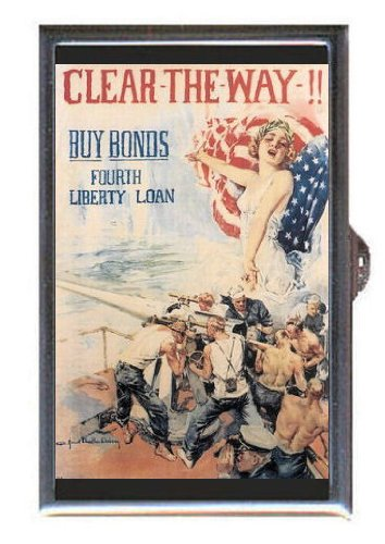 Wwi Liberty Bonds (Clear The Way Wwi Bonds Liberty Guitar Pick or Pill Box USA)