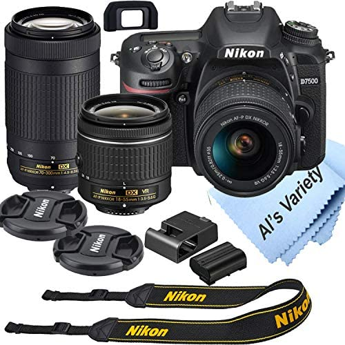 Nikon D7500 DSLR Digicam Package with 18-55mm VR + 70-300mm Zoom Lenses | Constructed-in Wi-Fi | 20.9 MP CMOS Sensor | EXPEED 5 Picture Processor and Full HD 1080p | SnapBridge Bluetooth Connectivity