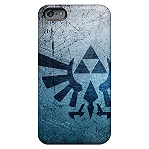 iphone 5c Anti-scratch phone case skin New Arrival Wonderful Sanp On metal textures triforce zelda logos